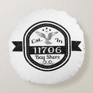 Establecido en orilla de 11706 bahías cojín redondo