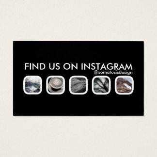 establecimiento de una red del instagram tarjeta de negocios