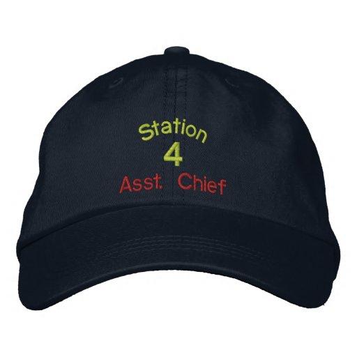 Estación, 4, Asst. Gorra Jefe-Bordado Gorra De Béisbol