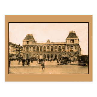 Estación de ferrocarril de Bruselas, horsecar Postal