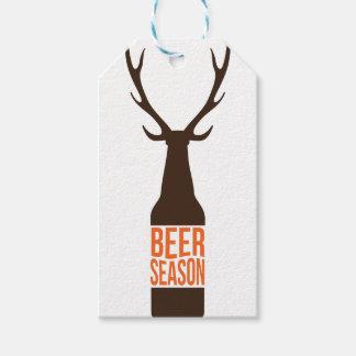 Estación de la cerveza etiquetas para regalos