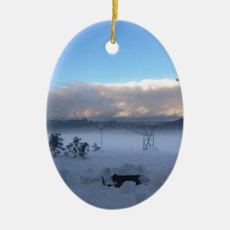 ¿Estación de la comida campestre? Ornamento Para Arbol De Navidad
