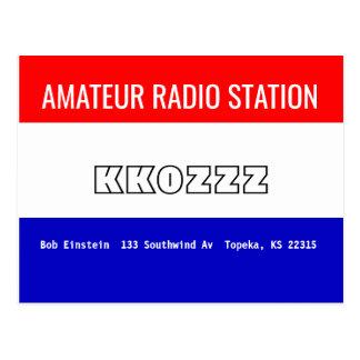 Estación de radio aficionada de la tarjeta de QSL