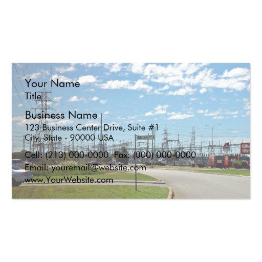Estación de relevo de la electricidad tarjetas personales