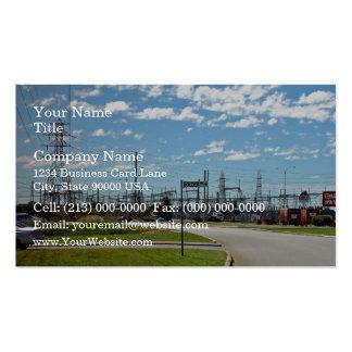 Estación de relevo de la electricidad tarjeta de visita