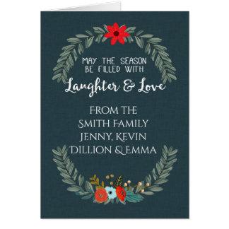 Estación del amor y de la risa tarjeta de felicitación