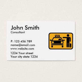 Estación del taxi tarjeta de negocios