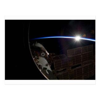Estación espacial internacional -- Visto de la Postal