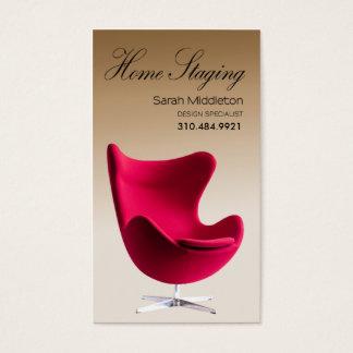 Estacionamiento casero, agente inmobiliario del tarjeta de visita