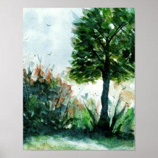 Estaciones de la naturaleza del árbol del arte del