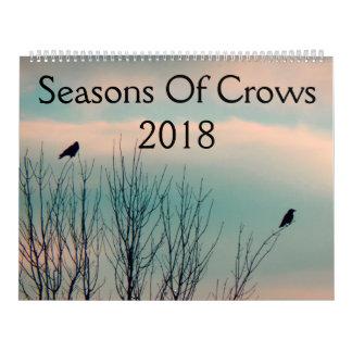 Estaciones de los cuervos 2018 calendario de pared