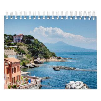 Estaciones del paisaje de Italia Calendario