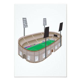 Estadio de fútbol invitación personalizada