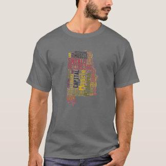 Estado de Alabama - bajíos del músculo Camiseta