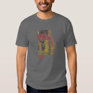 Estado de Alabama - bajíos del músculo Camisetas