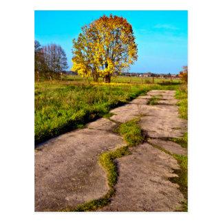Estado de ánimo áureo de otoño en el octubre postal
