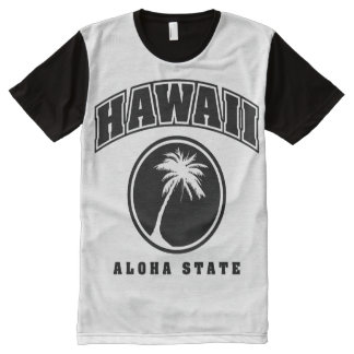 Estado de la hawaiana de Hawaii Camisetas Con Estampado Integral