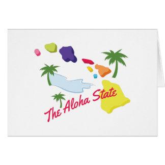 Estado de la hawaiana tarjeta de felicitación