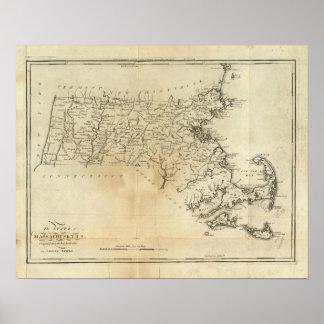 Estado de Massachusetts Póster