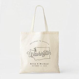 Estado de Washington que casa la bolsa de asas