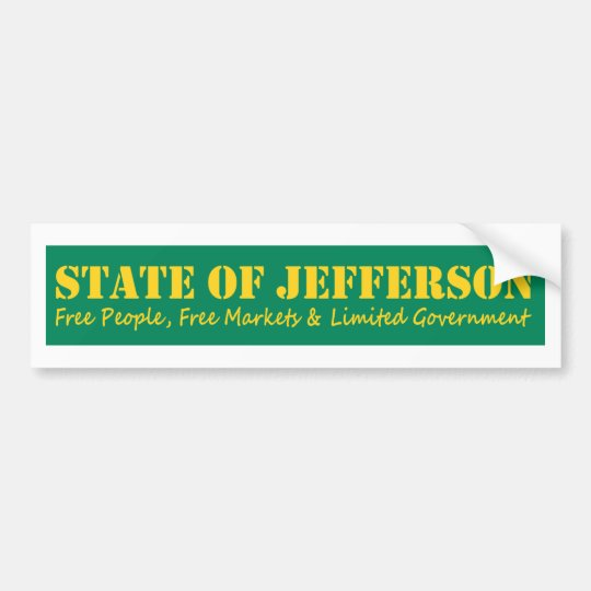 Estado del pegatina del bumber de Jefferson Pegatina Para Coche