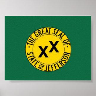 Estado del poster de la bandera de Jefferson