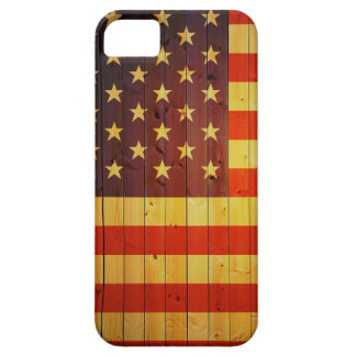 estado unido madera del flg del iphone de la funda para iPhone SE/5/5s