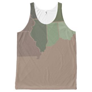 Estados Camo Camiseta De Tirantes Con Estampado Integral