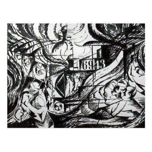 Estados de ánimo: Los adióses de Umberto Boccioni Postal