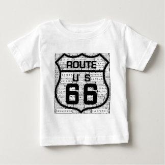 Estados de la ruta 66 camiseta de bebé