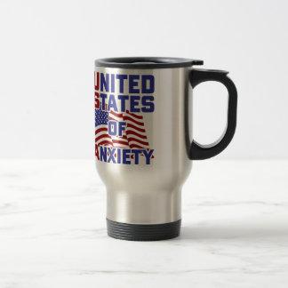 Estados Unidos de la ansiedad Taza De Viaje