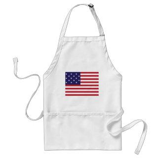 Estados Unidos protagonizan la bandera Spangled de Delantal