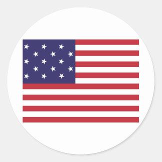 Estados Unidos protagonizan la bandera Spangled de Pegatinas Redondas