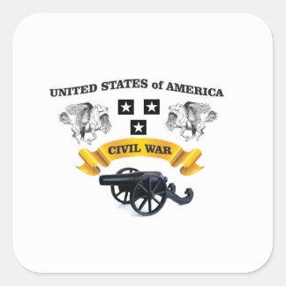Estados Unidos se fueron volando el caballo cw Pegatina Cuadrada