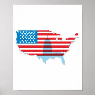 Estados Unidos señalan diseño por medio de una ban Poster