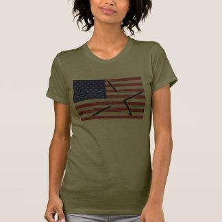 Estados Unidos señalan por medio de una bandera Camisetas