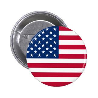 Estados Unidos señalan por medio de una bandera Chapa Redonda 5 Cm