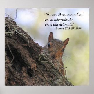 Estafa Ardilla de Salmos 27-5 Poster