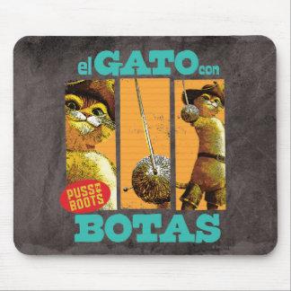 Estafa Botas del EL Gato Alfombrilla De Ratón
