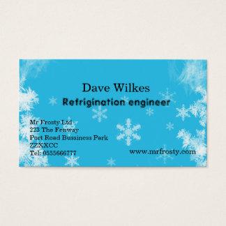 Estafa del aire y tarjeta de visita del ingeniero