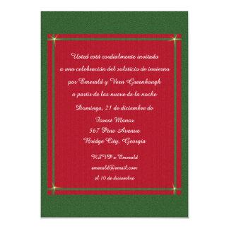 Estafa Encanto Solsticio de Invierno Invitación 12,7 X 17,8 Cm