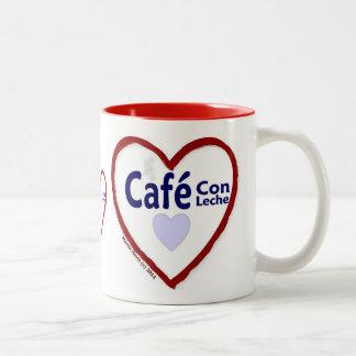 Estafa Leche - taza de Café del amor del Dos-Tono