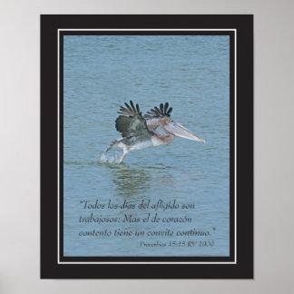 Estafa Pelicano cártel del 15 15 de Proverbios Impresiones