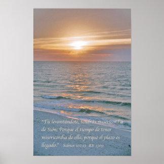 Estafa Puesta del Sol del 102 13 de Salmos Poster