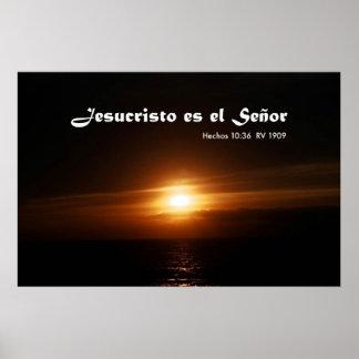 Estafa Salida del Sol del EL Señor de Jesucristo e Poster
