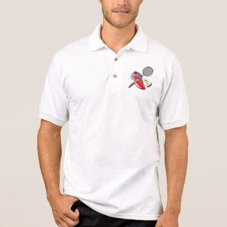 Estafa Shuttlecock del zapato del bádminton con su Camisa Polo