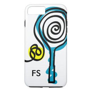 Estafa y bola personalizadas de tenis del funda iPhone 7 plus