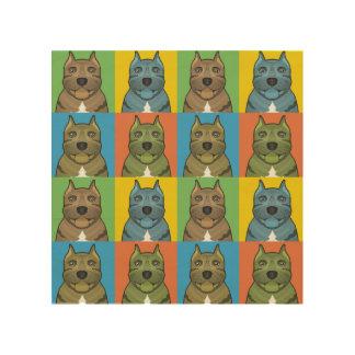 Estallido-Arte del dibujo animado del perro de Impresión En Madera
