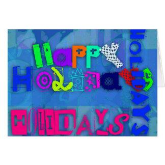 Estallido buenas fiestas 2015 - 2016 tarjeta de felicitación