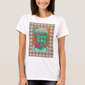 Estallido de Buda con las fronteras del remiendo Camiseta